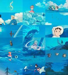 Ghibli, gama de color azul