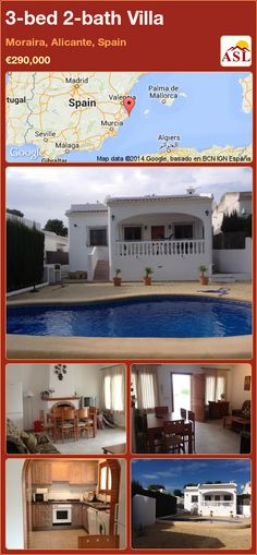 3-bed 2-bath Villa in Moraira, Alicante, Spain ►€290,000 #PropertyForSaleInSpain