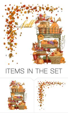 """""""Welcome Fall"""" by donnalynnginn ❤ liked on Polyvore featuring art"""