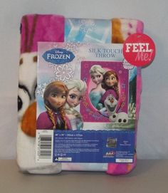 Disney Frozen Silk Touch Throw Anna Elsa and Olaf #Disney