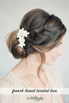100 wedding hairstyle updos: http://www.stylemepretty.com/2017/02/23/best-wedding-hairstyle-updo/