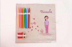 Sabanitas, saquitos, mochilas, cosidos y pintados a mano con los dibujos que más le gusten a tu pequeño