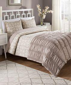 This Bettina Comforter & Quilt Set is perfect! #zulilyfinds