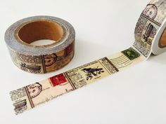 Vintage Stamps and Postmarks Washi Tape by GoatGirlMH on Etsy