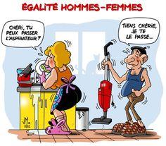 Un peu d' #humour !!! tache menagère #lol #mdr #funny #illustration