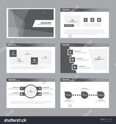 Black white presentation template Infographic elements flat design set for brochure flyer leaflet marketing advertising