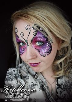 Butterfly face paint love this one by Kate  Monroe