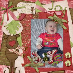Christmas in July is the theme this month.  This is Sierra, Christmas 2012,  Kacee and Bethany did a photo shoot for the family and came up with this idea.  Love love love it. Kit is from GDS  Candy Christmas by Dana's Footpirnts, font is Christa