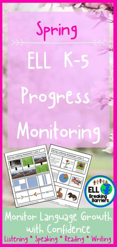 This mega bundle provides you with progress monitoring assessments for your ESL ELL EFL EAL ESOL students in grades K-5. Please carefully read which assessments are included as the bundle is GROWING and not yet fully complete. I will update this product as the assessments are complete and send you a note regarding the update when posted. -ELL Breaking Barriers Reading Resources, Teacher Resources, Classroom Resources, Teaching Ideas, Hello Teacher, Letter Identification, Preschool Special Education, Progress Monitoring, Reading Fluency