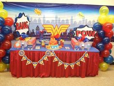 Hayden's 4th Birthday is going to be Wonder Woman themed....really like this idea!