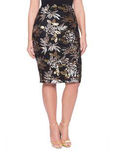 dc83e345254 Studio Sequin Column Skirt from eloquii.com Plus Size Sequin Skirt