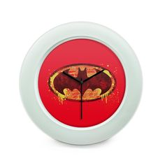 batman logo Art Illustration(Red) Table Clock