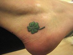 foot tattoos shamrock - Google Search