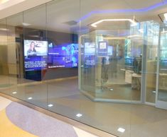 switchable privacy glass pods for doctors miami childrens hospital telehealth center miami childrens hospitals new
