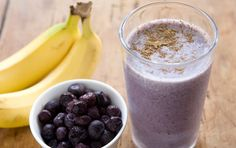 Whey Protein Breakfast Blast // Kick your day off to a great start with a homemade smoothie! Blueberries and bananas make is incredibly tasty, and the flaxseed adds nutrients! Makes a great quick lunch or dinner as well.