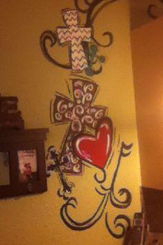 Cute cross paintings