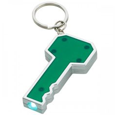 Custom key shape LED key chain offers vast positioning options for marketers to consider.   #CustomFlashlightKeychains #PromotionalProducts