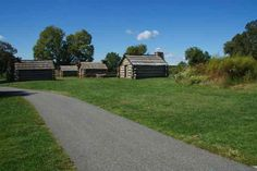 Log huts, Valley Forge Park