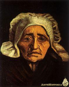 VAN GOGH. Anciana campesina con cofia. 1884.