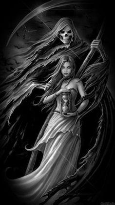 Reaper taking girls soul