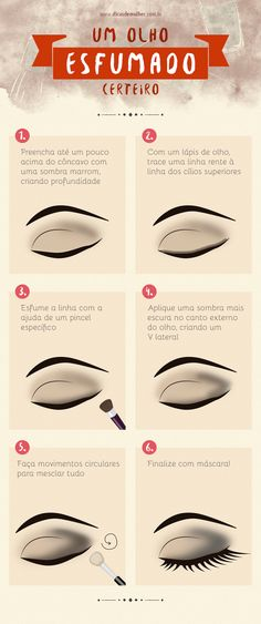 Smoky eye: tips and tricks to learn once and for all Olho esfumado: dicas e truques para aprender de uma vez por todas Smoky eye: tips and tricks to learn once and for all - Contour Makeup, Glam Makeup, Diy Makeup, Makeup Tools, Face Contouring, Makeup Tricks, How To Make Hair, Make Up, Make Beauty