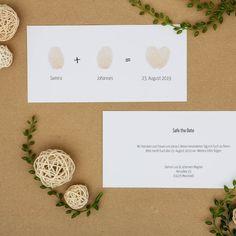 Fingerprint  Save the Date - Postkarte DinLang (quer)