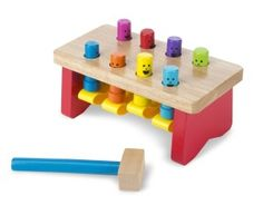 Melissa & Doug Deluxe Pounding Bench Wooden Toy with Mallet (Developmental Toy, Helps Fine Motor Skills, Great Gift for Girls and Boys - Best for and 4 Year Olds) Toddler Toys, Baby Toys, Kids Toys, Toddler Games, Children's Toys, Girl Toddler, Baby Play, Infant Toddler, Lego Duplo