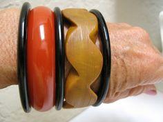 5 bakelite bracelets
