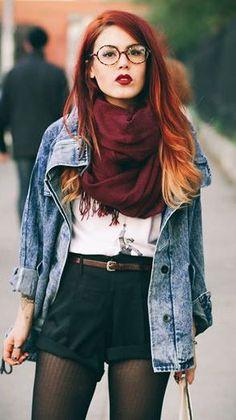 Luanna Perez-Garreaud from Le Happy Fashion 90s, Hipster Fashion, Autumn Fashion, Girl Fashion, Fashion Outfits, Celebrities Fashion, Street Fashion, Fashion Women, Hipster Stil