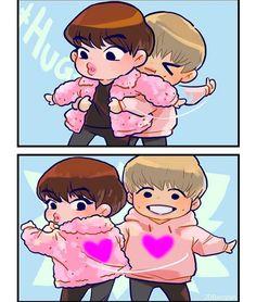Namjin, Fanart, Kpop Couples, Bts Drawings, Bts Chibi, I Love Anime, Foto Bts, Bts Memes, Seokjin