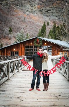Cute couples #Christmas #card inspiration