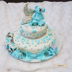 Christening cake for my nephew💙