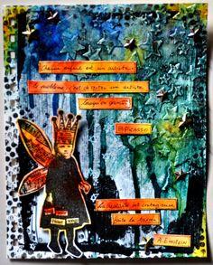 """Semaine 4 sujet: """"Mon mantra"""" par http://hellofannyscrap.com/"""