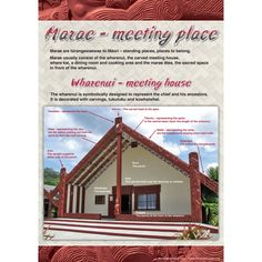 Two bilingual charts in this set - one chart shows a photo of a whare nui with labels in Maori and Engligh. The second chart lists the names of the key parts of a marae welcome School Resources, Teaching Resources, Maori Songs, Maori Designs, Aboriginal Culture, Maori Art, Kiwiana, Early Childhood Education, Kids Education