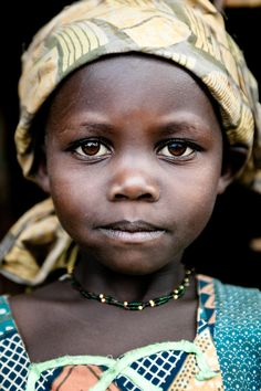 Africa | Lendu girl from Gety, a remote village located in Ituri region of the northeastern Democratic Republic of Congo | © Christophe Stramba-Badiali