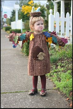 Tree and woodland creatures costume - For my future niece or nephew?