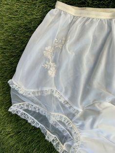Granny Panties, Lingerie Drawer, Slip Skirts, Floral Print Shirt, Vintage Lingerie, Lace Applique, Floral Lace, Large Mushroom, Women Wear