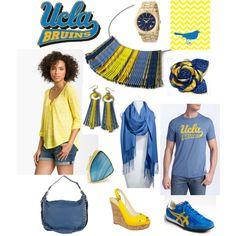 """Team spirit - UCLA - Blue and Gold"""