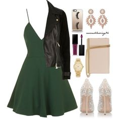 Elegant With a Dash Of Rock by avonsblessing94 on Polyvore featuring moda, Topshop, River Island, Casadei, Diane Von Furstenberg, Michael Kors, Charlotte Russe, Casetify and Smashbox