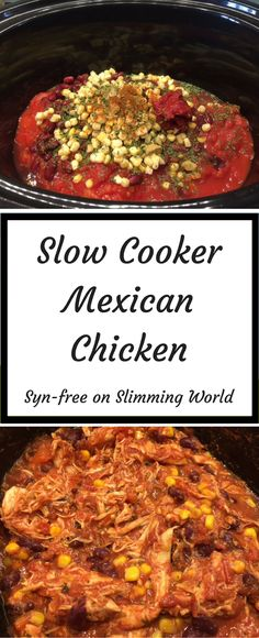 Slow Cooker Mexican Chicken- easy slow cooker recipe, syn-free on Slimming World. Slow Cooker Mexican Chicken- easy slow cooker recipe, syn-free on Slimming World. Slow Cooker Mexican Chicken, Slow Cooked Chicken, Slow Cooked Meals, Healthy Slow Cooker, Chicken Cooker, Chicken Casserole Slow Cooker, Low Calorie Crockpot Meals, Chicken Freezer, Slow Cooker Freezer Meals