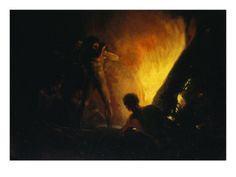 Savages Around a Fire - Francisco Goya
