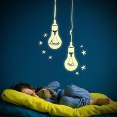 Mimi'Lou Bonne Nuit glow in the dark wall sticker for baby nursery or kids bedroom