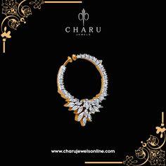 Diamond Nose Ring, Pearl And Diamond Necklace, Diamond Jewelry, Silver Jewelry, Tanzanite Jewelry, Nose Ring Jewelry, Nose Rings, Ear Rings, Nose Ring Designs