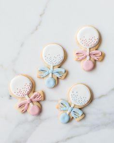 Baby rattle cookies by sweet kiera