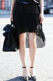 Anomalous Lower Hem Black Skirt    $39.99  romwe.com #Romwe
