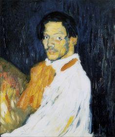 Pablo Picasso · Autoritratto · 1901 · Collezione privata