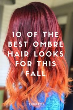 10 of the Best Ombre Hair Looks For This Fall Curly Hair Tips, Curly Hair Styles, Natural Hair Styles, Best Ombre Hair, Ombre Style, Galaxy Hair, New Hair Trends, Color Your Hair, About Hair