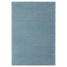 STOENSE Dywan z krótkim włosiem - średnioniebieski - IKEA