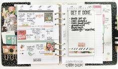 July Carpe Diem planner set up from marketing director Layle Koncar