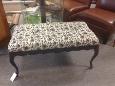 Upholstered Bench - Newly upholstered. Item 1419-9. Price $94.00      - http://takeitorleaveit.co/2017/04/24/upholstered-bench-4/